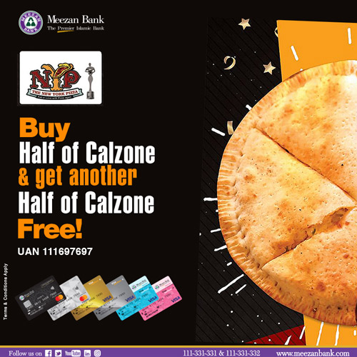 Get Another Half Of Calzone Free At The New York Pizza By Meezan